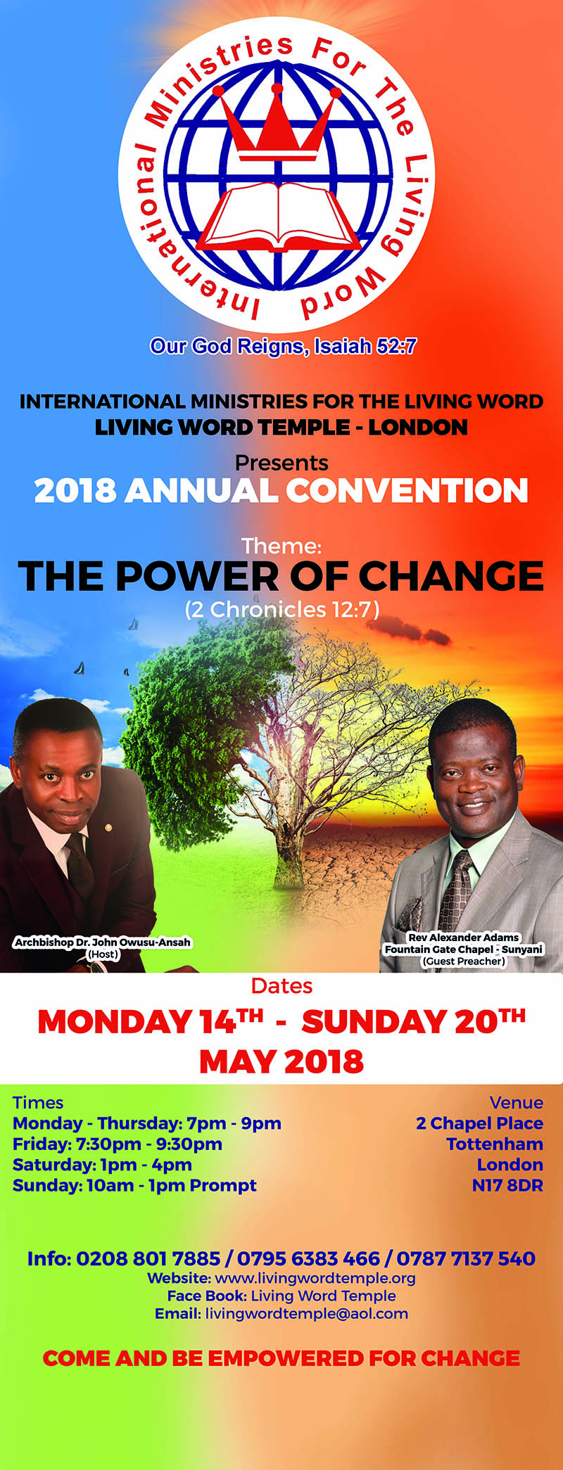 2018 Annual Convention @ 2 Chapel Place